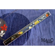 Akashiya Koto-Japanese Brush Pen With Beautiful Patterns - Blue