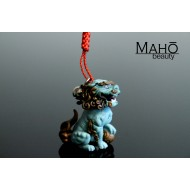 Foo-dog Komainu Japanese netsuke strap  ⛩ mascot charm Lion Guardian god 狛犬・阿