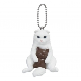 Cute Japanese Netsuke Cell Phone Charm Cat cafe chocolate