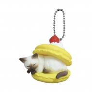 Cute Japanese Netsuke Cell Phone Charm Cat cafe macaron
