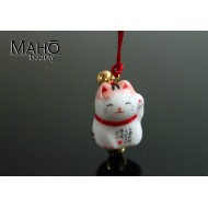 Cute good luck charm Maneki Neko - Japanese fortune cat with Pink ears ​