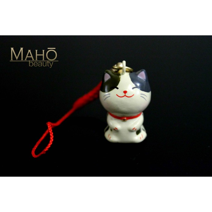 Charming Japanese NEKO cat Mascot Charm Cell Phone Strap Keychain