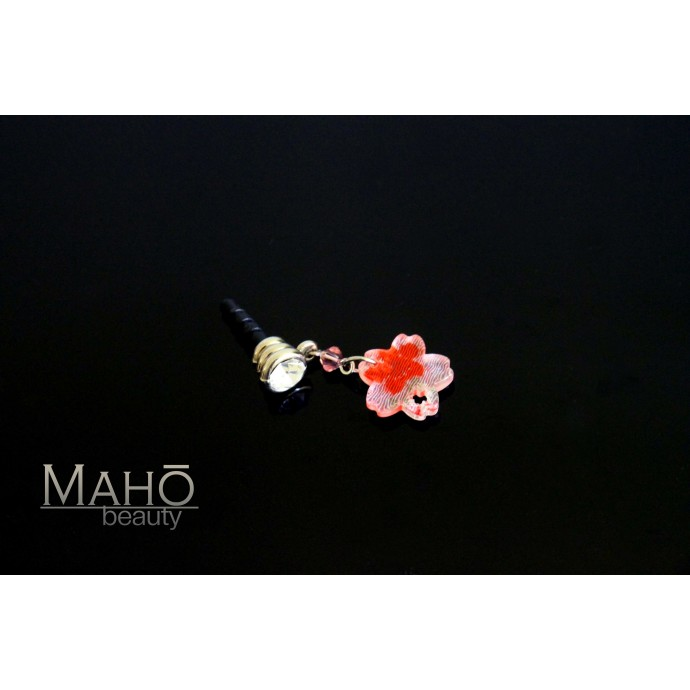 Charming Japanese style Cherry blossom mobile phone charm accessory