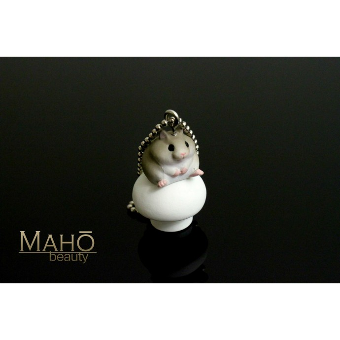 Adorable Charm Cell Phone Strap Keychain Hamster and mushroom