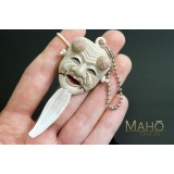 Japanese Noh Theatre mask mascot charm Okina God of peace netsuke 翁