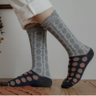 JAPANESE STYLE SOCKS: 22 – 25 cm GRAY patterns