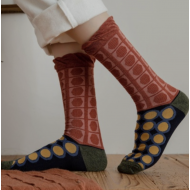 JAPANESE STYLE SOCKS: 22 – 25 cm Red patterns