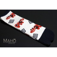 Angora Tabi socks Japanese design Akabeko 22-25 cm Red cow white