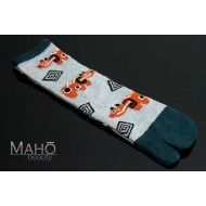 Angora Tabi socks Japanese design Akabeko 22-25 cm Red cow