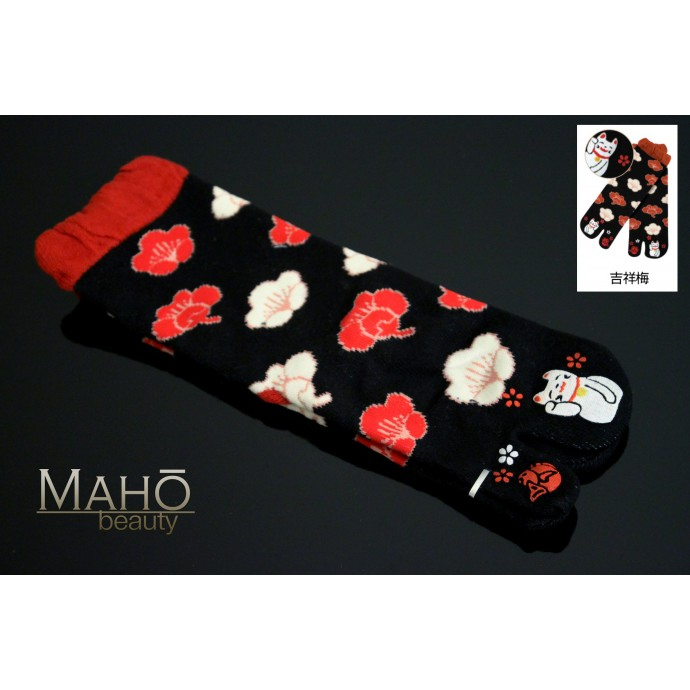 Japanese design TABI SOCKS Lucky Cat 22 – 25 cm Maneki Neko
