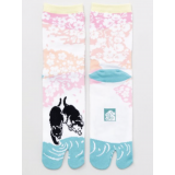 Amina MADE IN JAPAN TABI SOCKS: Cats by the stream 23 – 25 cm 流水と猫