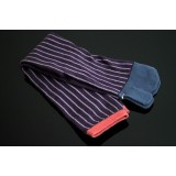 Japanese longer style TABI SOCKS 22 – 25 cm Stripes Purple