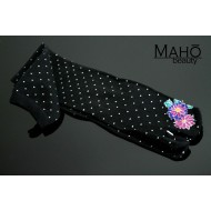 Cool Japanese style Tabi socks: Long black 22-25 cm Dots