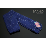 Cool Japanese style Tabi socks: Long 22-25 cm Dots Blue