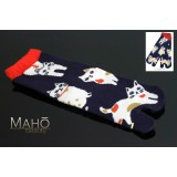 Japanese TABI SOCKS Cats 22 – 25 cm にゃんきーす Nyankisu