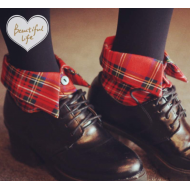 Cool and stylish Button Up Shirt Type Socks. Tartan Plaid