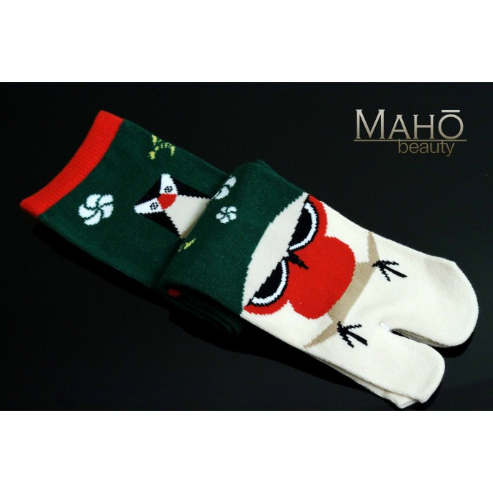 Amina MADE IN JAPAN TABI SOCKS: Fortune doll 25-28 cm  木うそ