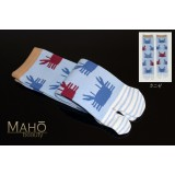 Amina MADE IN JAPAN TABI SOCKS: CRABS 25-28 cm Kanize カニザ