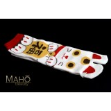 Cool Japanese style Kawaii Tabi socks: Maneki neko 22-25 cm