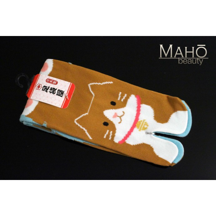 MADE IN JAPAN TABI SOCKS: NEKO 22 – 25 cm Ginger