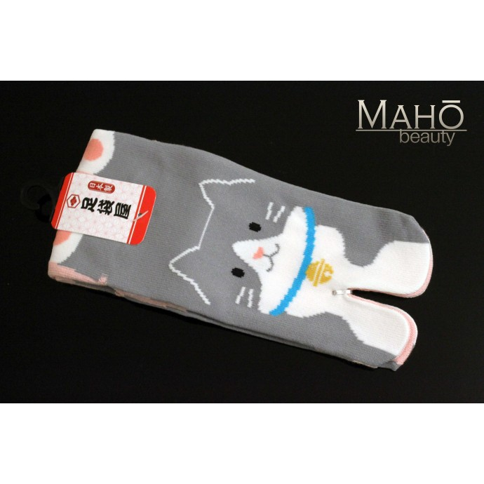 MADE IN JAPAN TABI SOCKS: NEKO 22 – 25 cm Grey