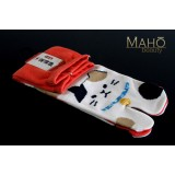 MADE IN JAPAN TABI SOCKS: NEKO Cat 22 – 25 cm Red