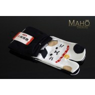 MADE IN JAPAN TABI SOCKS: NEKO Cat 22 – 25 cm Black