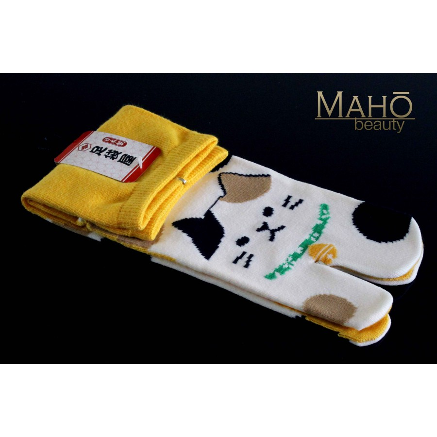 Made In Japan Tabi Socks Neko 22 25 Cm Yellow