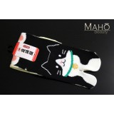 MADE IN JAPAN TABI SOCKS: NEKO 22 – 25 cm Black/yellow