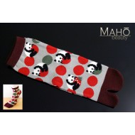 Cute Japanese style Kawaii Tabi socks: Panda 22-25 cm