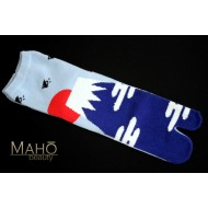Made in Japan TABI toe SOCKS: Mt. Fuji 22 – 25 cm light blue