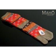 Cool Japanese style Kawaii Tabi socks: Long beige 22-25 cm