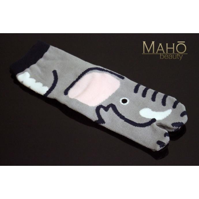 Cute Japanese style Kawaii Tabi socks: Elephant 22-25 cm Zō 象