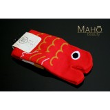 Cute Japanese style Kawaii Tabi socks: Red Carp 22-25 cm