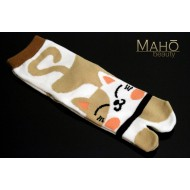 Cute Japanese style Kawaii Tabi socks: Cat smile Neko 22-25 cm