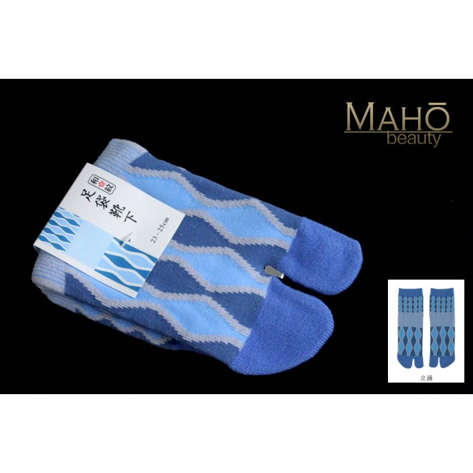 MADE IN JAPAN Nara TABI SOCKS: wave pattern  22 – 25 cm
