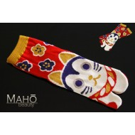 Cute Japanese style Kawaii Tabi socks: Hana neko 花猫 cat  22-25 cm