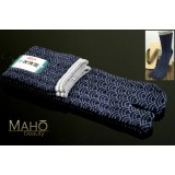 HIGH quality MADE IN JAPAN TABI SOCKS: Wave pattern 25 – 27 cm blue