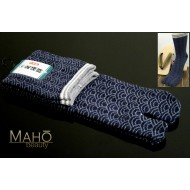 HIGH quality MADE IN JAPAN TABI SOCKS: Wave pattern seigaiha 25 – 27 cm blue