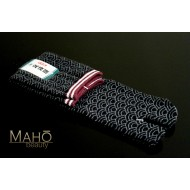 HIGH quality MADE IN JAPAN TABI SOCKS: Wave pattern Seigaiha 25 – 27 cm black