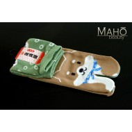 MADE IN JAPAN TABI SOCKS: SHIBA INU dog 22 – 25 cm green