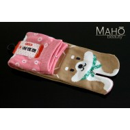 MADE IN JAPAN TABI SOCKS: SHIBA INU dog 22 – 25 cm pink