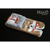 MADE IN JAPAN TABI SOCKS: SHIBA INU dog 22 – 25 cm grey