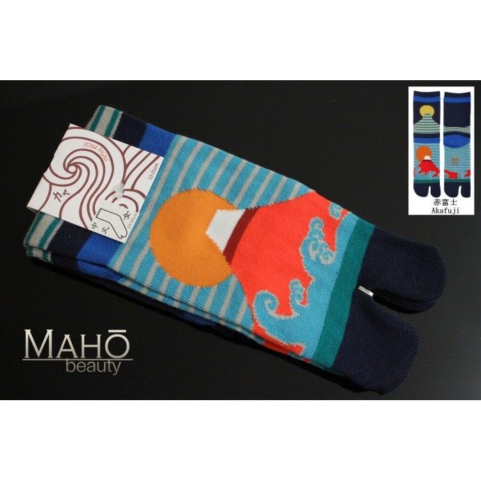 HIGH quality MADE IN JAPAN TABI SOCKS: Mt. Fuji  scenery 23 – 25 cm