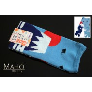 Made in Japan TABI toe SOCKS: Mt. Fuji 22 – 25 cm blue