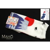 Made in Japan TABI toe SOCKS: Mt. Fuji 22 – 25 cm white