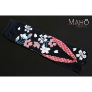 Lovely Japanese style Tabi socks: black sakura