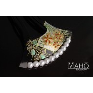 Elegant Traditional JAPANESE hair accessory - KANZASHI HAIR COMB. Icons of Autumn – Nadeshiko 撫子 and Hagi 萩