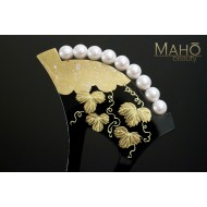 Traditional JAPANESE hair accessory - KANZASHI HAIR COMB Vine Grape
