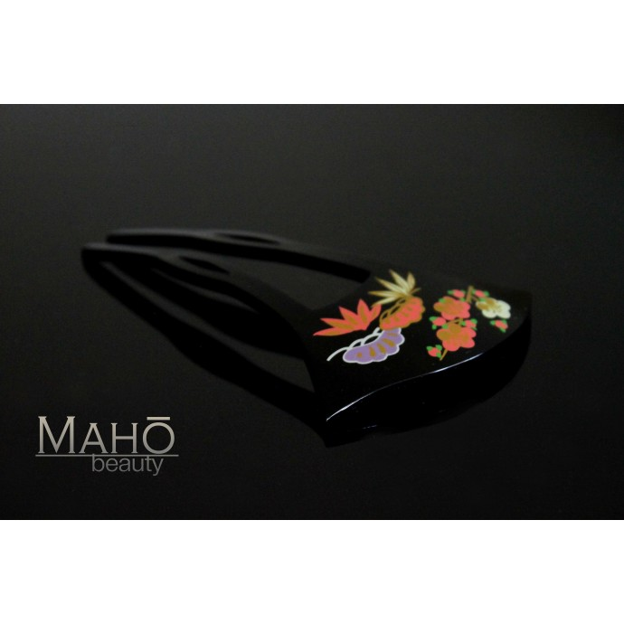 Traditional JAPANESE hair accessory - KANZASHI. Plum blossoms